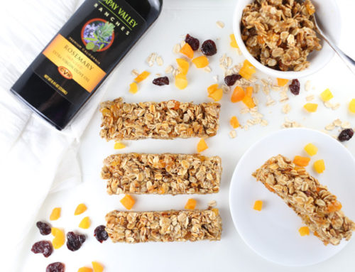 Chewy Rosemary Apricot Granola Bars